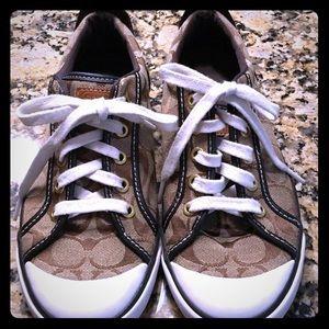 Coach Brown Tennis Shoes, Women's Size 8.5